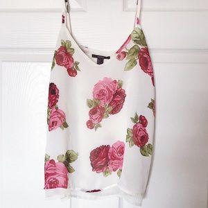 Rose white cami